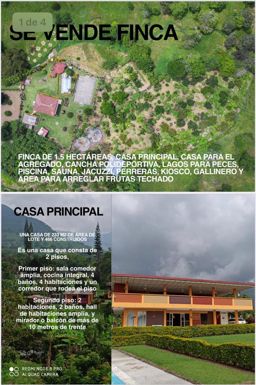 CÑVOC-0059 Se vende cabaña, cerca al corregimiento de Arauca, en Palestina Caldas.